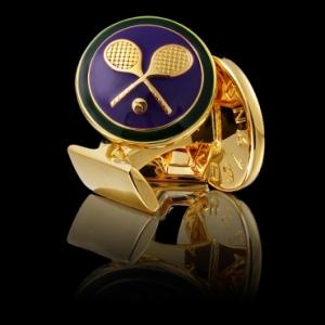 """Manschettknappar """"Tennis"""" från Skultuna"""