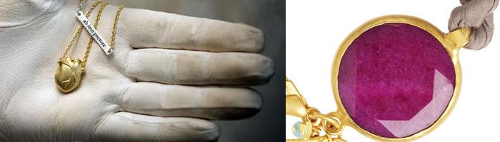 Skapa en lyxig look med färgstarka smycken i kombination med guldtoner!