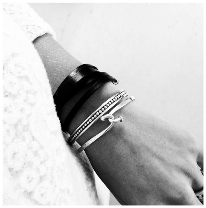 armband combo,läder+silver 2