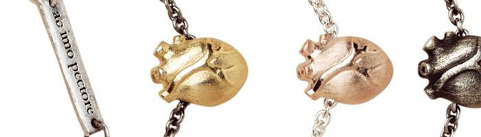 anatomiskt hjärta smycke