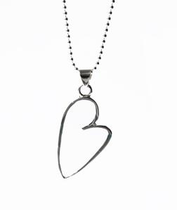halsband-silver,hjärta