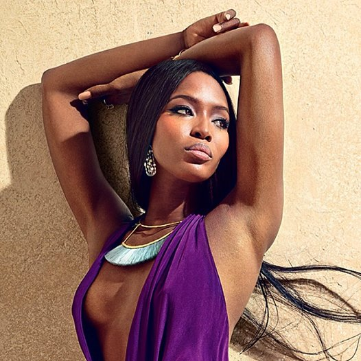 Naomi Campbell in bjorg necklace