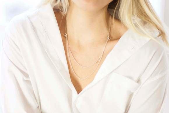 Grace Bird Double Chain Necklace