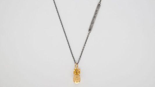 bjorg halsband,kanin,guld
