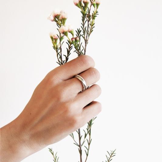 silverring,3 ring liten