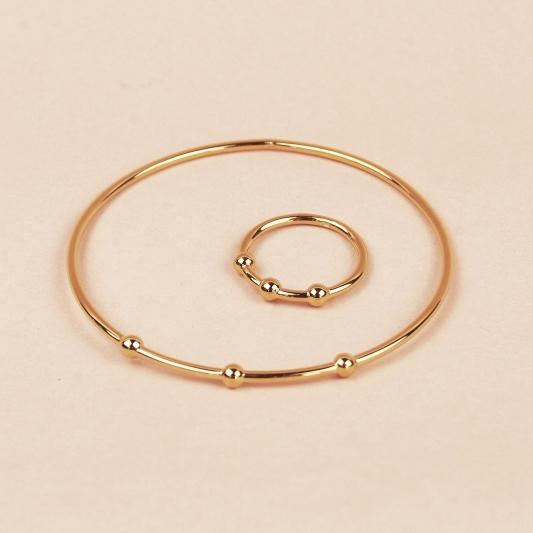 3-ball-armband-och-ring-guld2