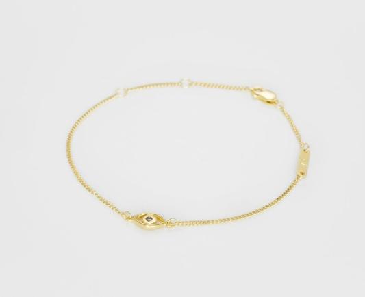 bjorg armband,eye bracelet,gold