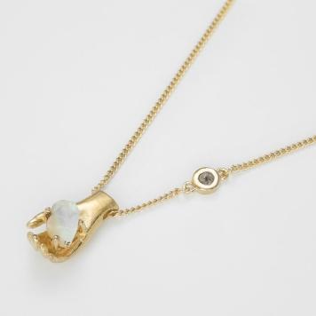 bjorg halsband,hand,gold,2