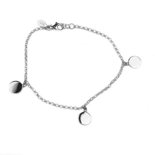 armband charm moon silver
