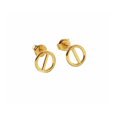 Rod ear studs gold