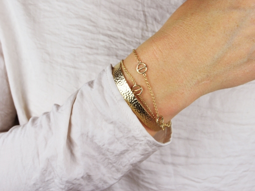 armband guld,rod,cuff