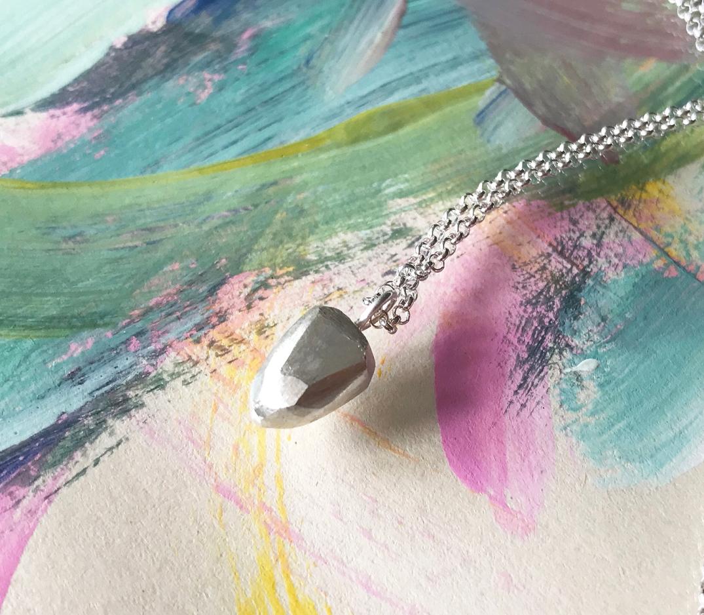 halsband handgjort,silver,fro