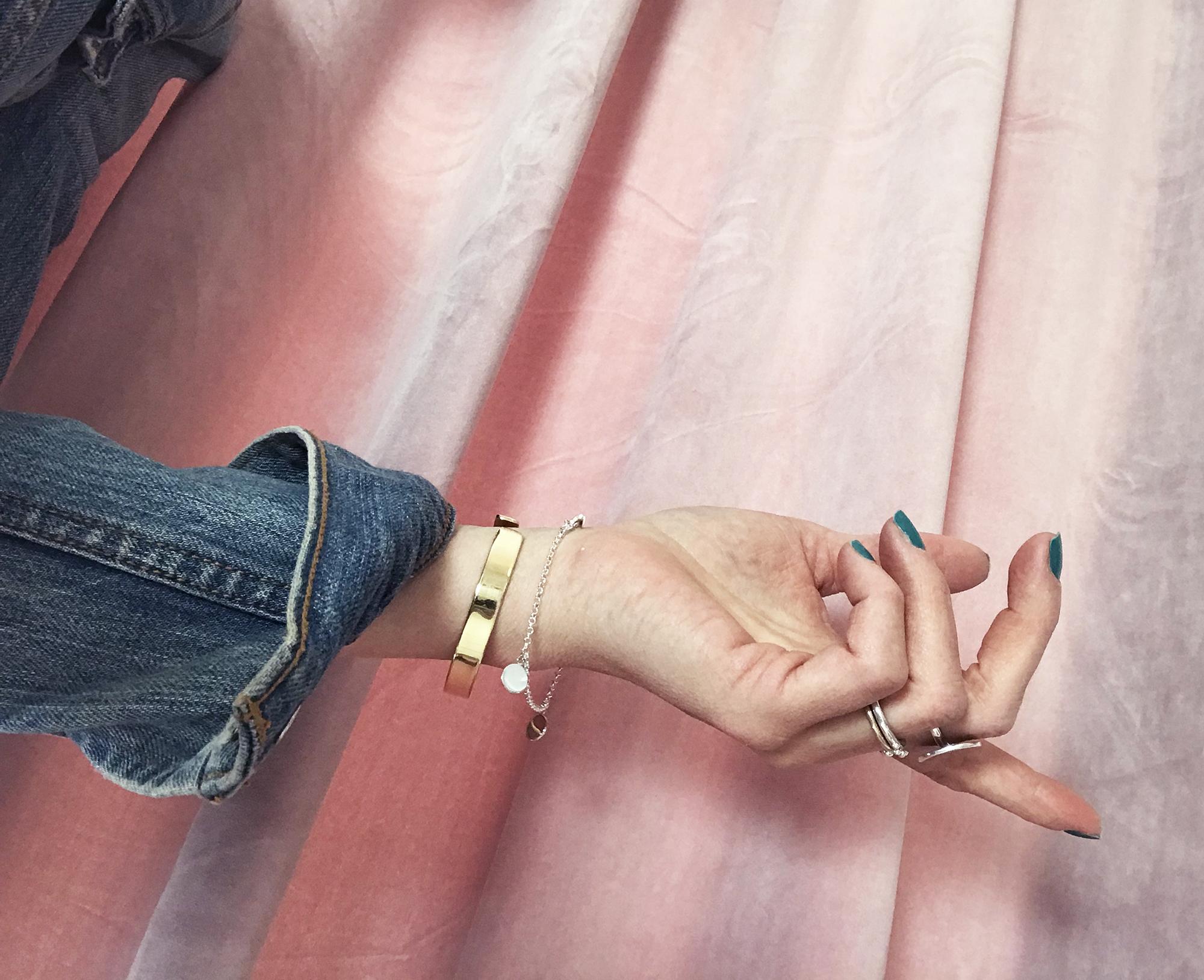 armband guld+silver,mila