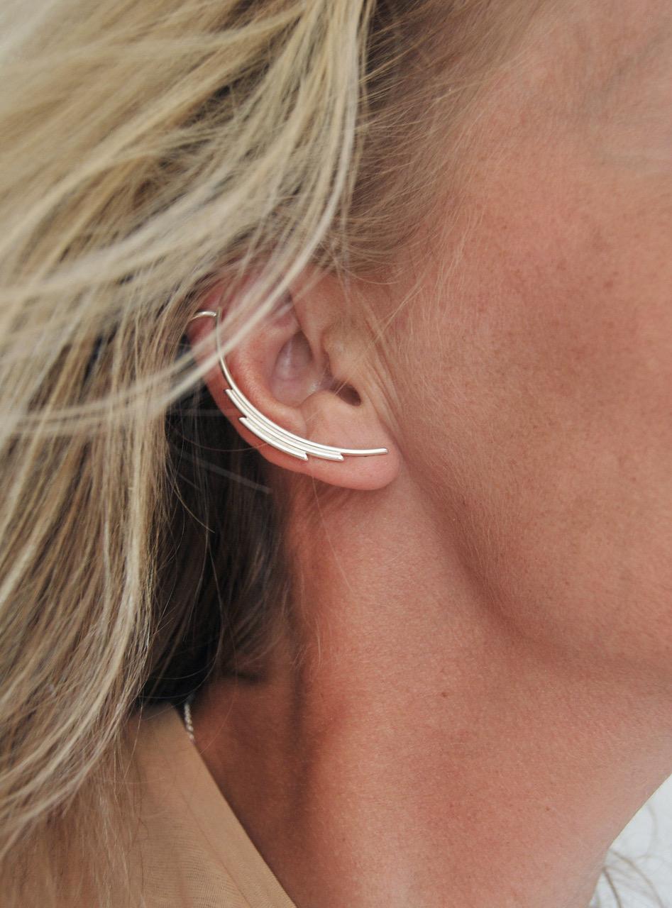 ear cuff silver,tjf