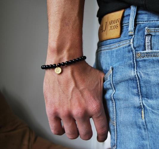 armband herr,onyx+fatimas hand,2