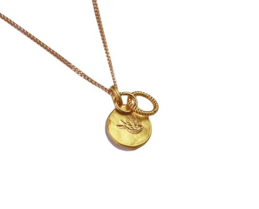 halsband-svala,guld
