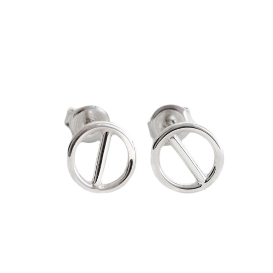 rod ear studs-silver,orhangen